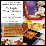 Red Copper Pans Giveaway ~ 3 Winners [Ends 9/29]